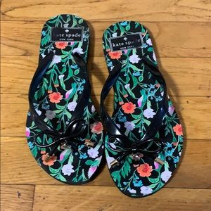 Kate spate floral flip flop